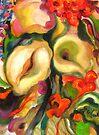 Calla Lilies Hiding by Barbara Sparhawk