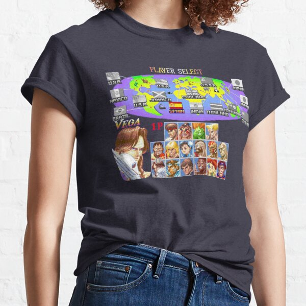 Super Street Fighter II - Select Your Fighter Artwork Classic T-Shirt