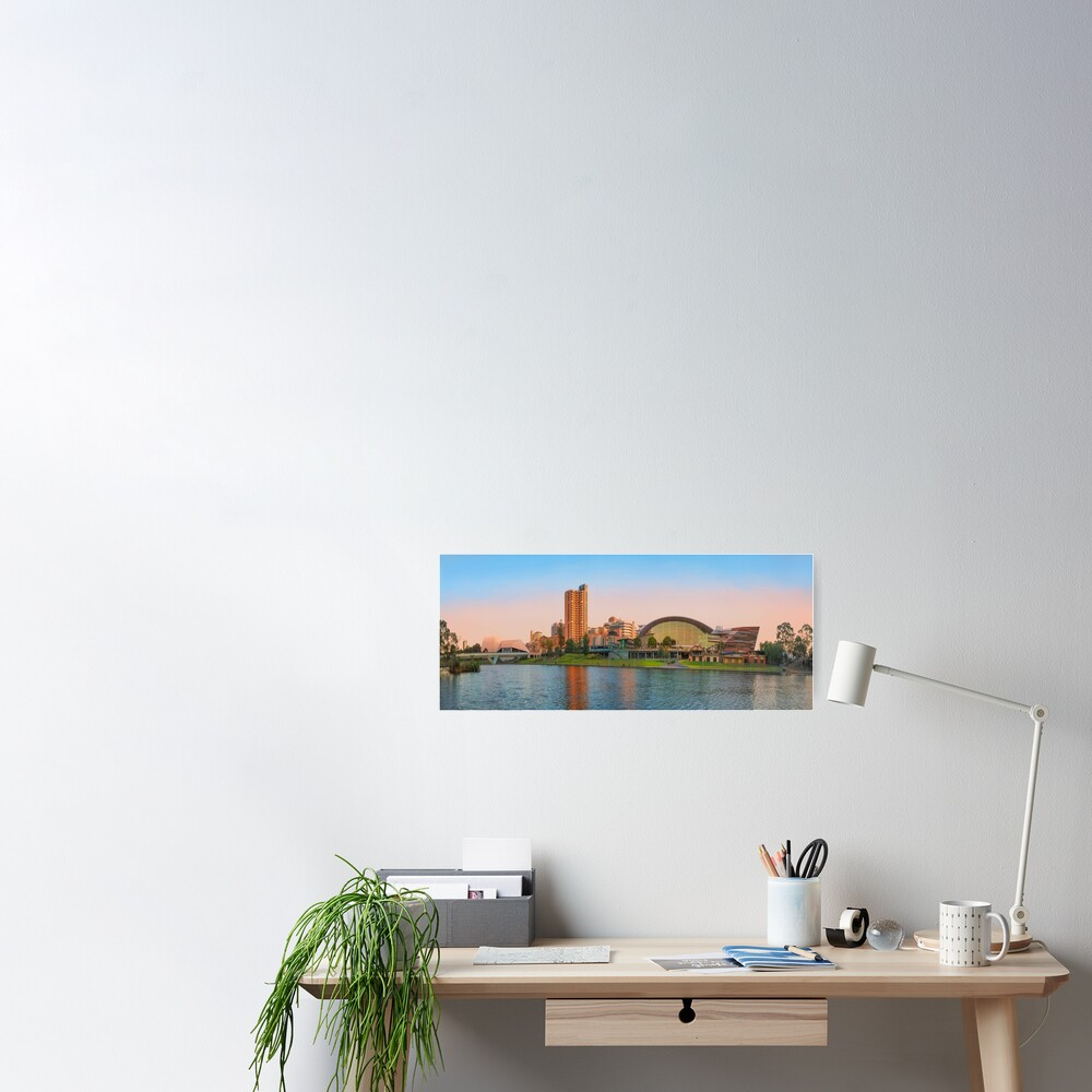 Adelaide Riverbank panorama Poster