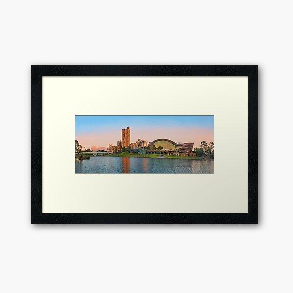 Adelaide Riverbank panorama Framed Art Print
