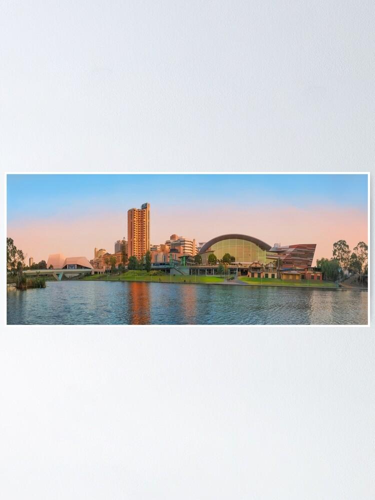 Alternate view of Adelaide Riverbank panorama Poster