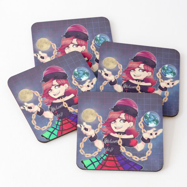 Welcome ♥ hell Coasters (Set of 4)