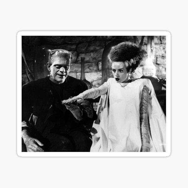 Mr. & Mrs. Frankenstein Hand In Hand Sticker