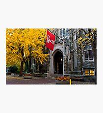 Fall colors,Temple university, Philadelphia Photographic Print