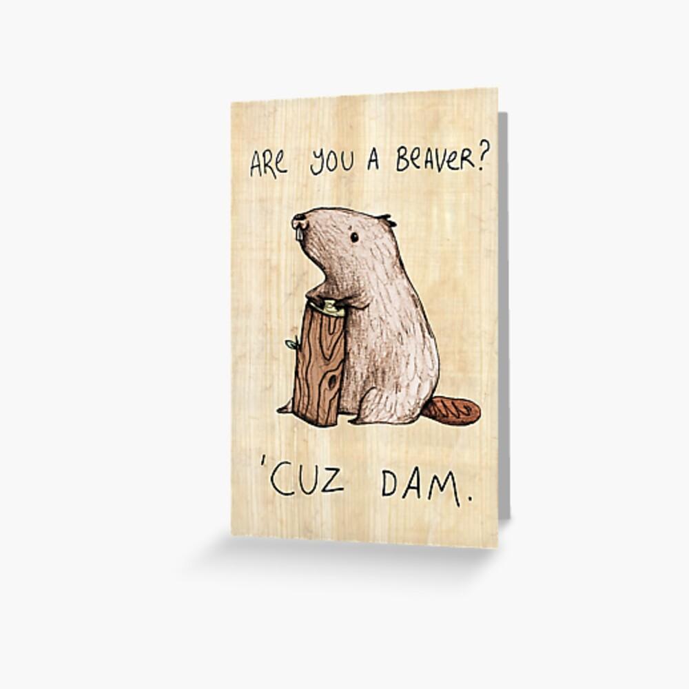 Dam Greeting Card