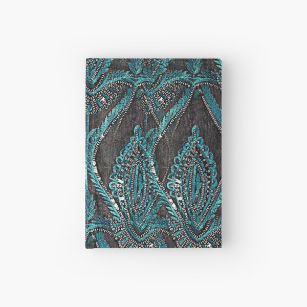 aBlack and turquise pattern Hardcover Journal