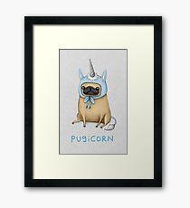 Pugicorn - Fawn Framed Print