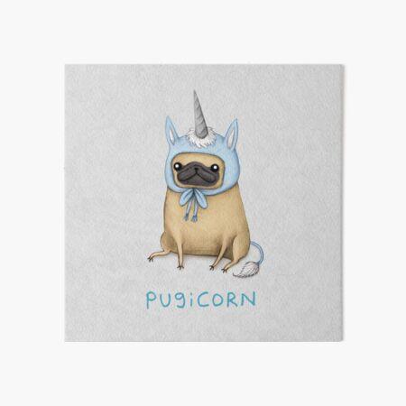 Pugicorn - Fawn Art Board Print