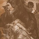 Dramatic Death of Brunhilde, 613 A.D. by edsimoneit