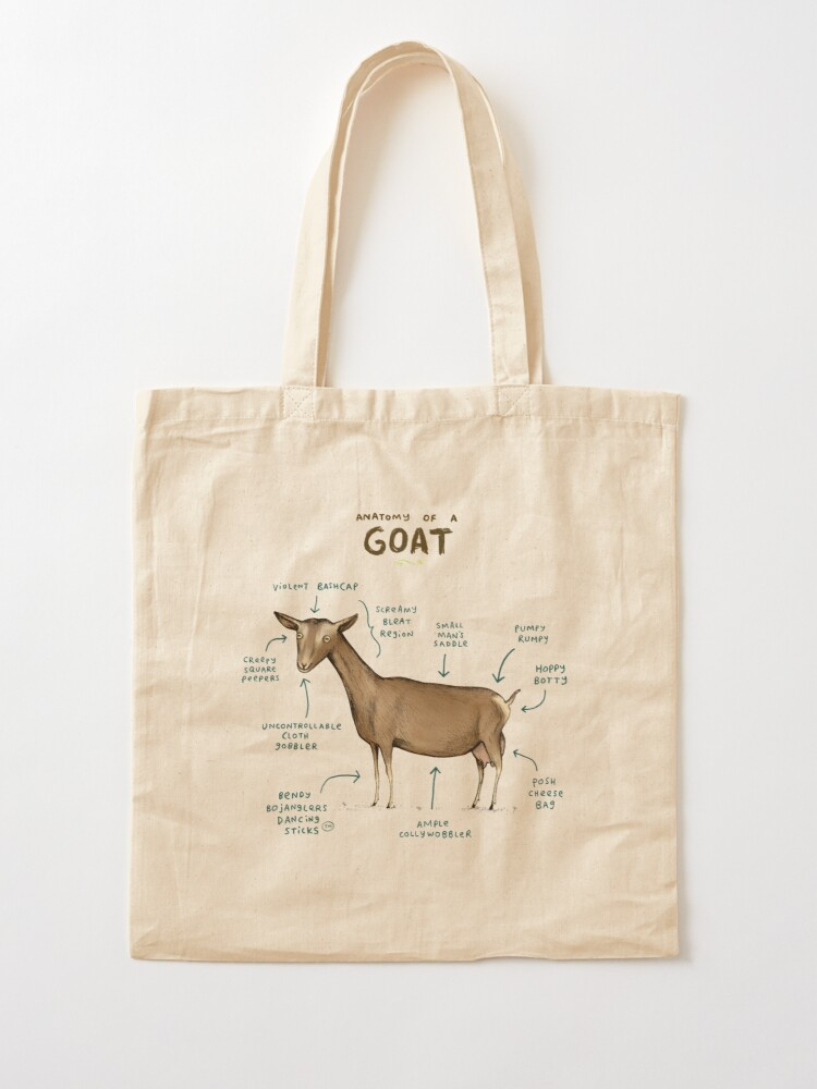 Alternate view of Anatomy of a Goat Tote Bag
