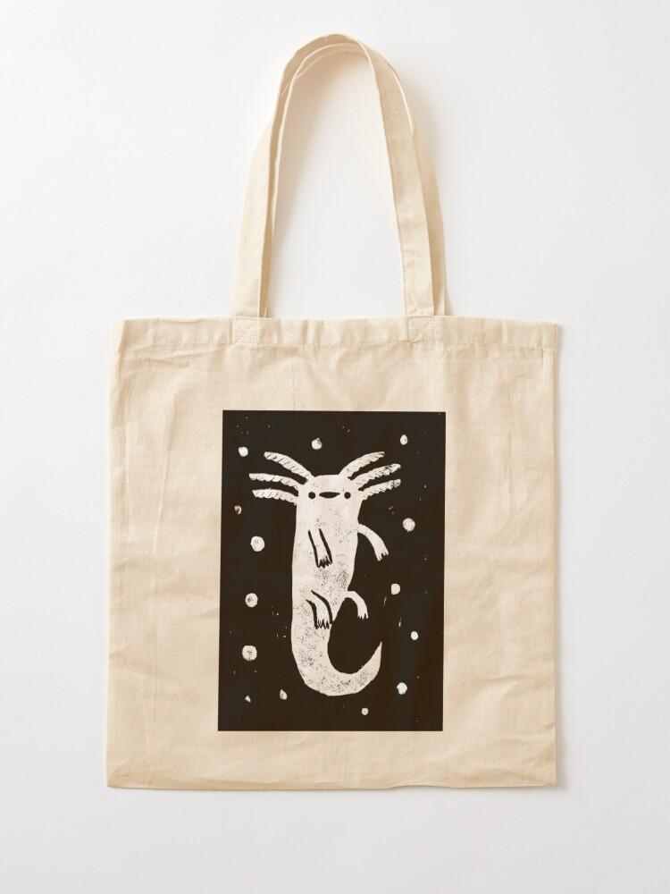 Alternate view of Axolotl Print Tote Bag