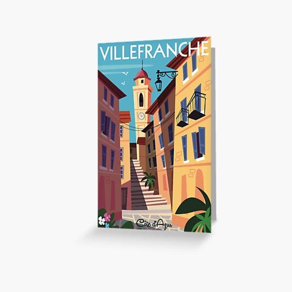 Villefranche sur mer poster Greeting Card