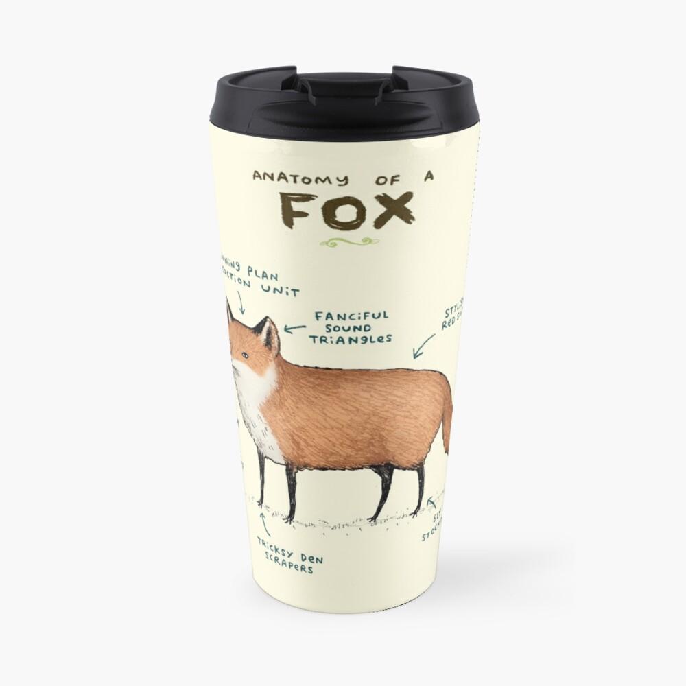Anatomy of a Fox Travel Mug
