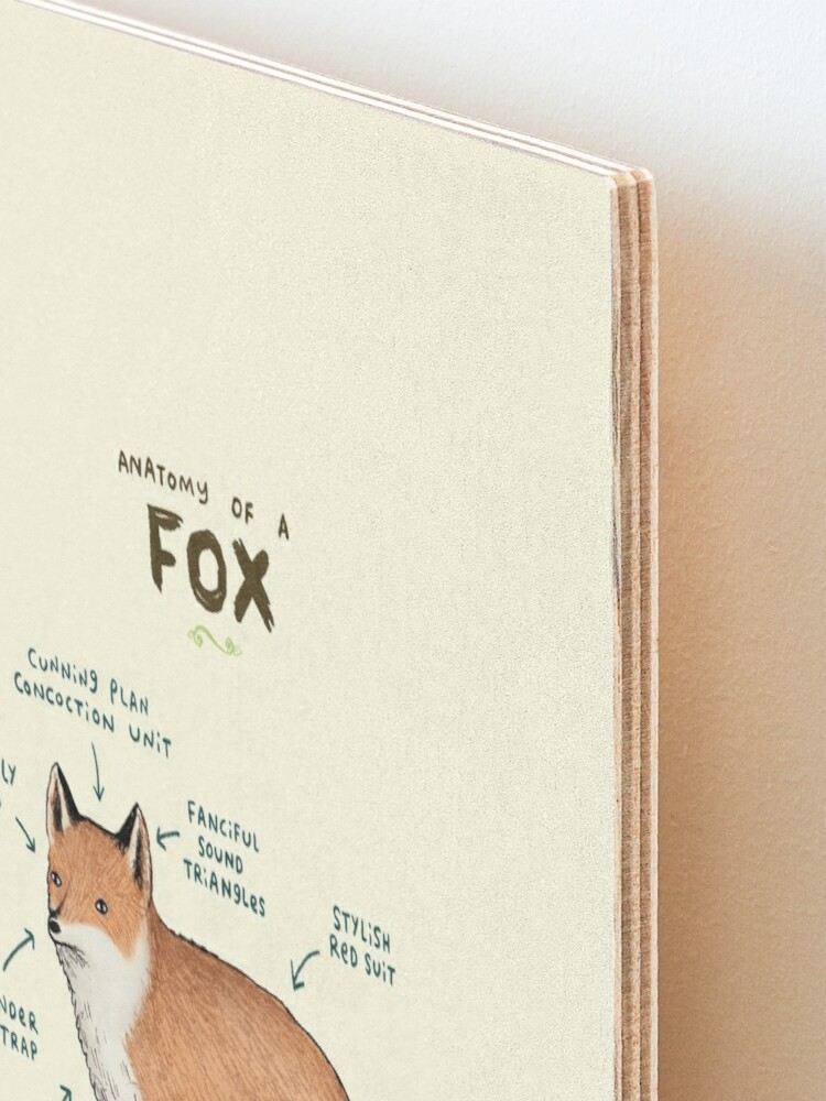 Alternate view of Anatomy of a Fox Mounted Print