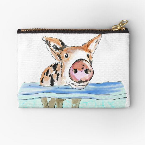 Bahamas Floating Swimming Piglet Zipper Pouch