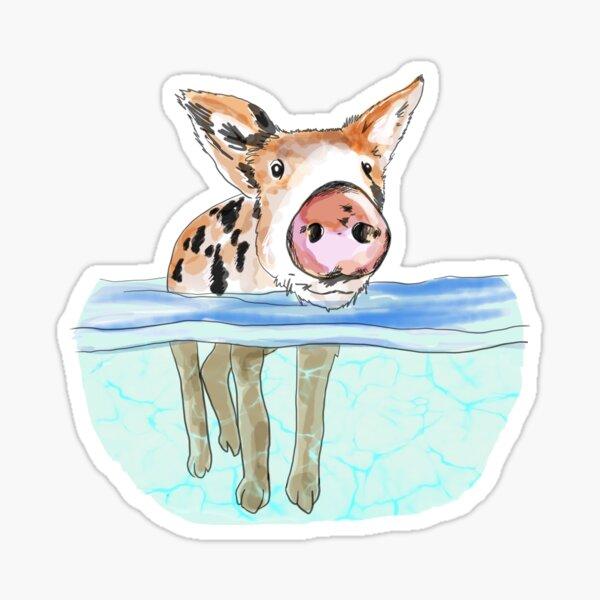 Bahamas Floating Swimming Piglet Sticker