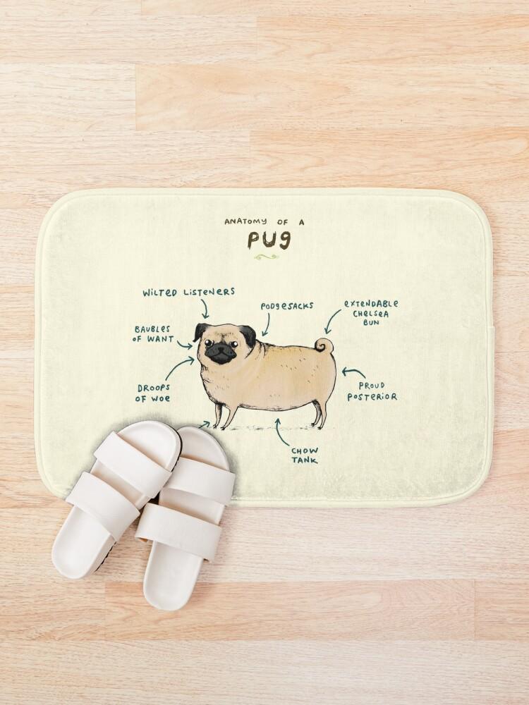 Alternate view of Anatomy of a Pug Bath Mat
