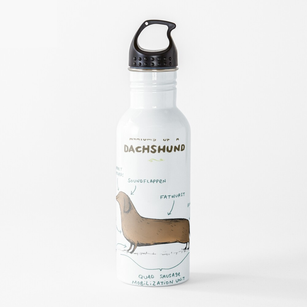 Anatomy of a Dachshund Water Bottle