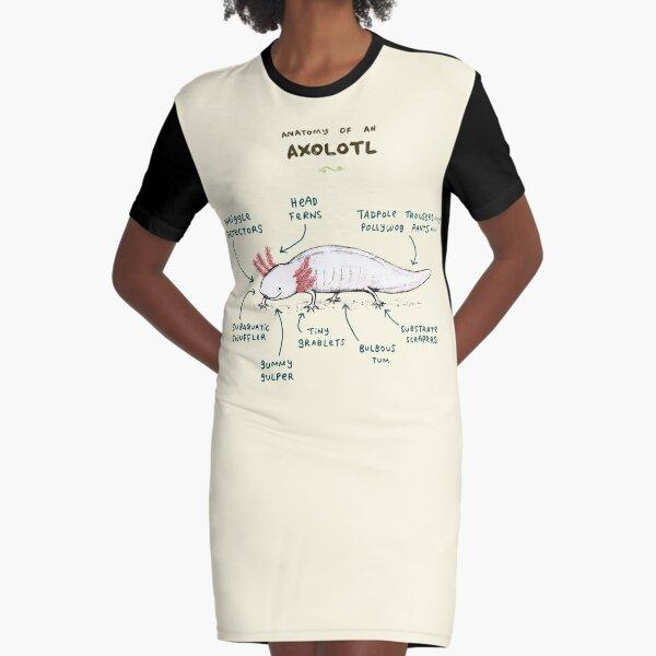 Anatomy of an Axolotl Graphic T-Shirt Dress