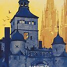 Vintage German Travel Advertisement  by edsimoneit