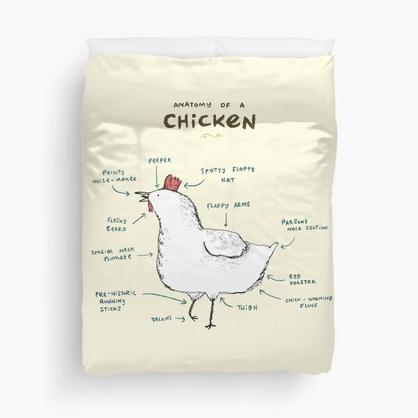 Anatomy of a Chicken Duvet Cover