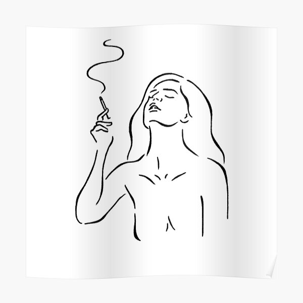 Smoking Girl Posters Redbubble