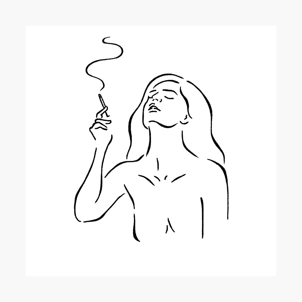 Smoking Girl Poster By Awhalesong Redbubble