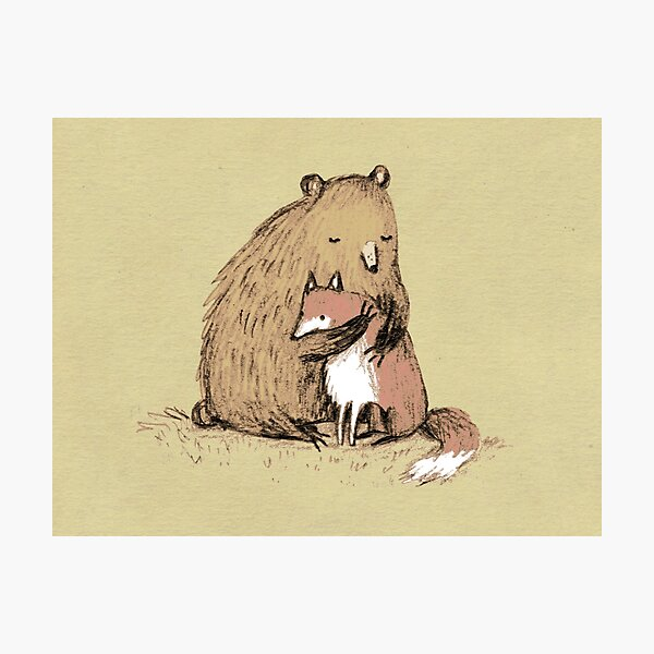 Grizzly Hugs Photographic Print