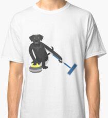 Schwarzes Labrador-Retriever-Winden Classic T-Shirt