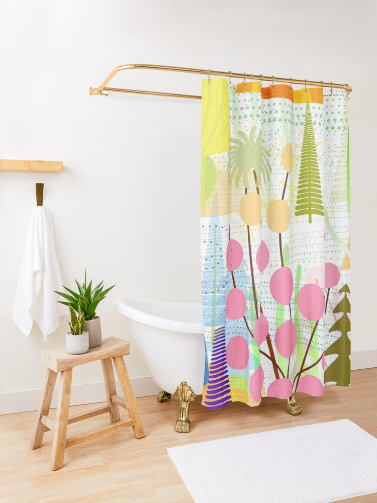 Alternate view of Fresh Day Shower Curtain