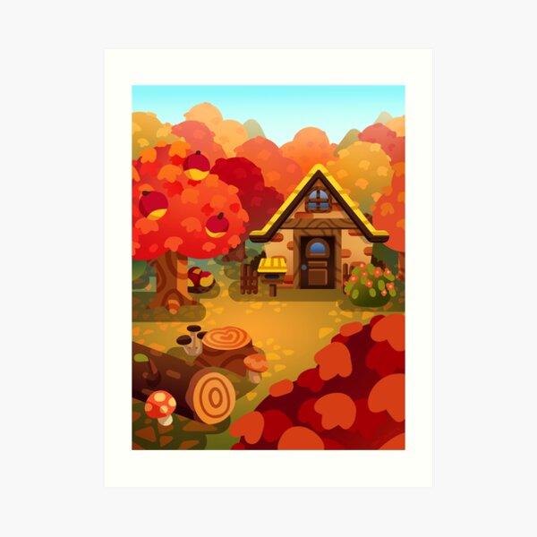 Colourful Autumn Forest Home Art Print