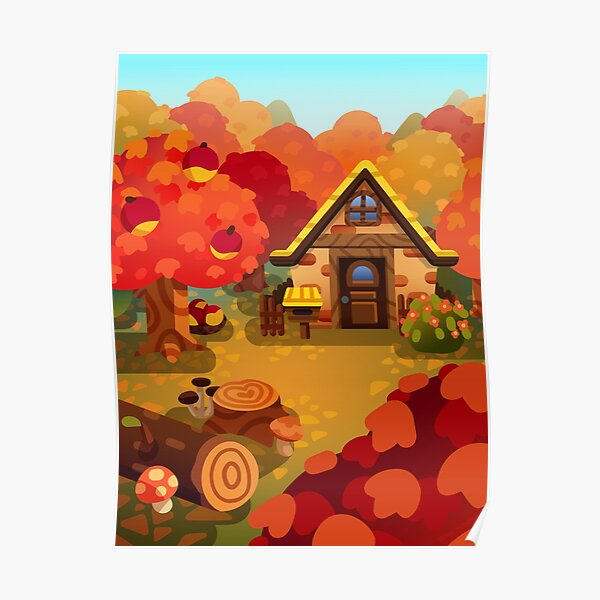 Colourful Autumn Forest Home Poster