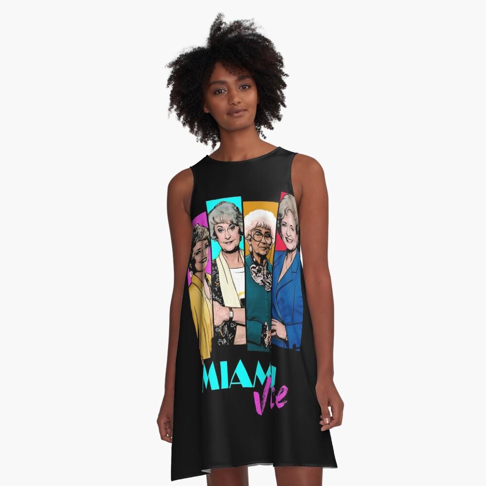Miami Vice A-Line Dress