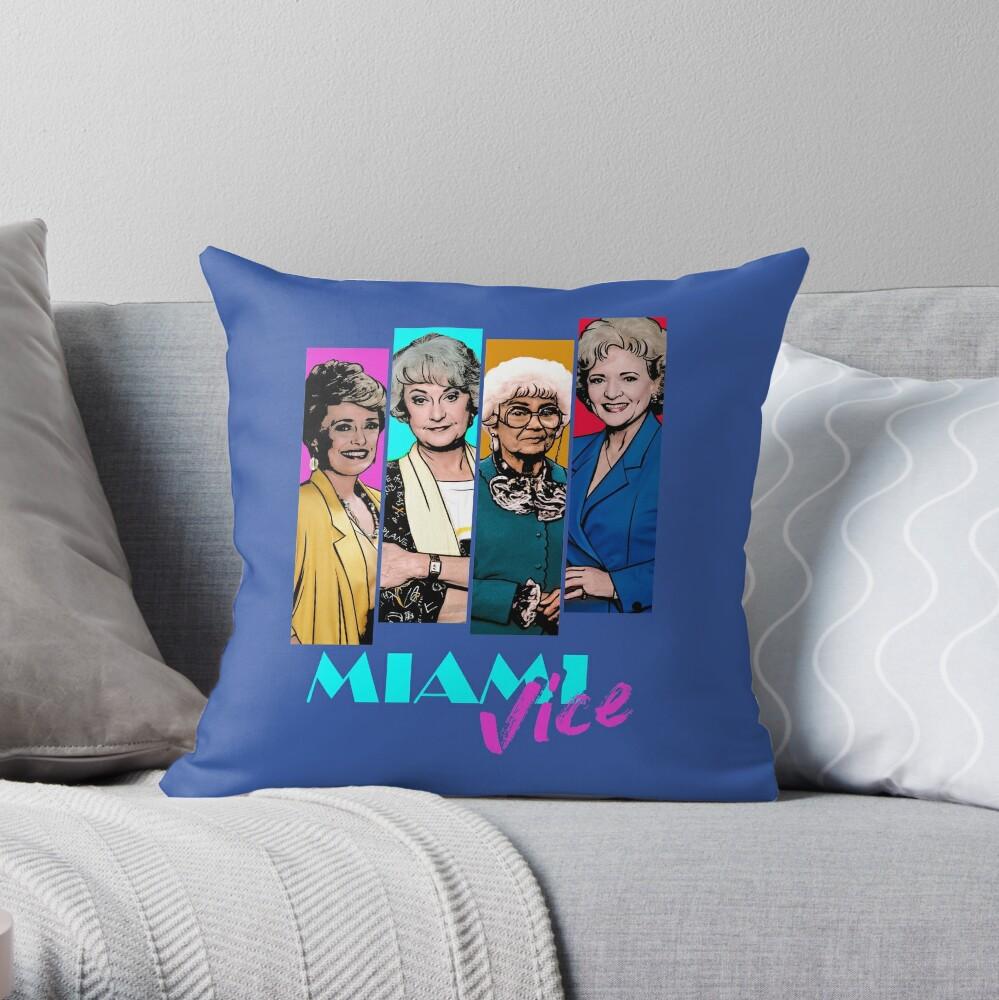 Miami Vice Throw Pillow