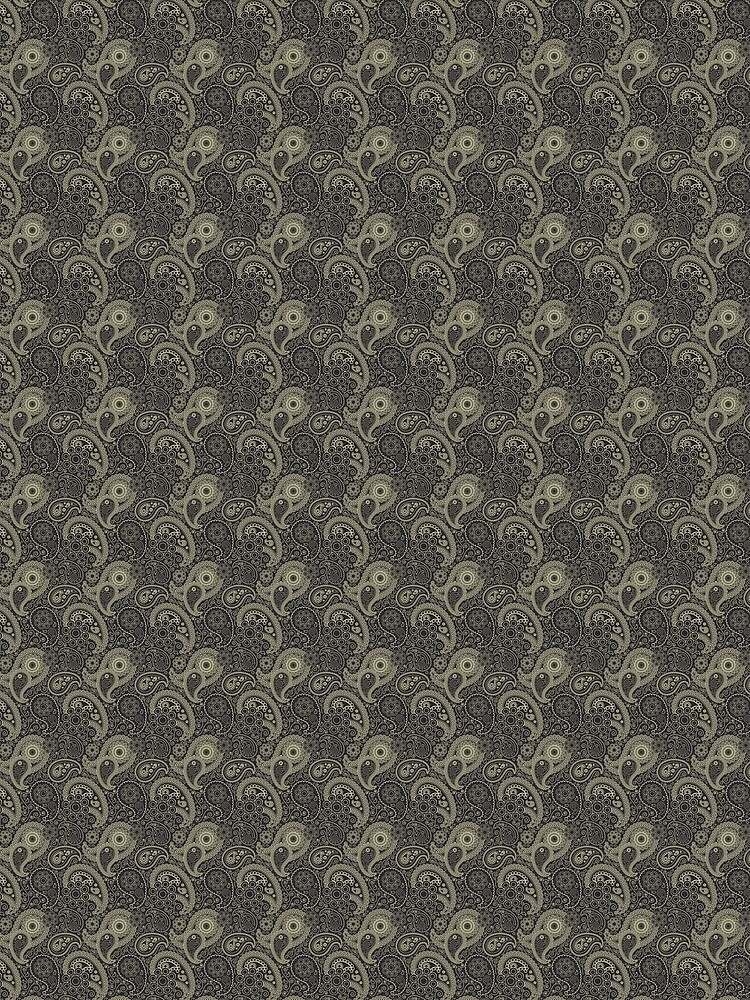 Paisley pattern in black and grey by liesjes