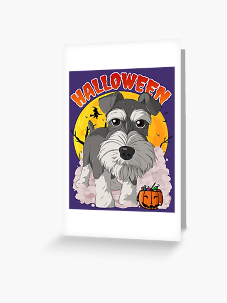 SCHNAUZER Halloween Greeting Card