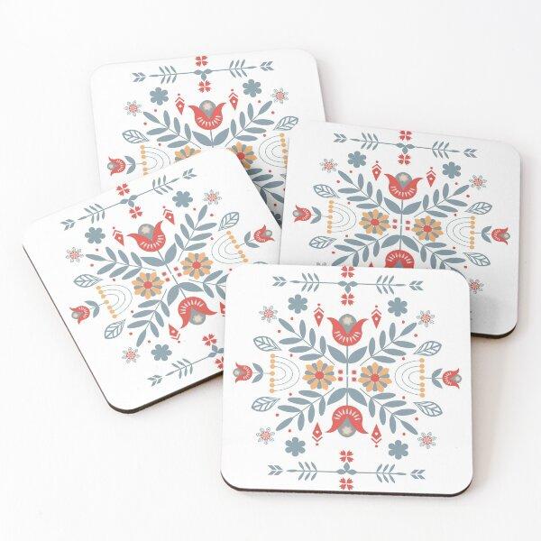 Scandinavian Folk Coasters (Set of 4)