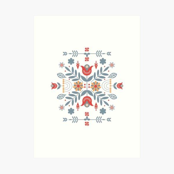 Scandinavian Folk Art Print