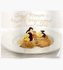 Grand Marnier & Vanilla Mascarpone filled Profiteroles Poster