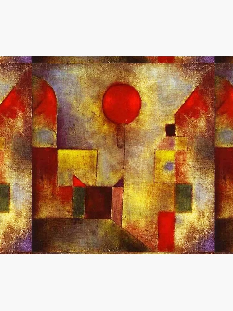 Red Balloon, 1922, painting by Swiss artist, Paul Klee. by TOMSREDBUBBLE