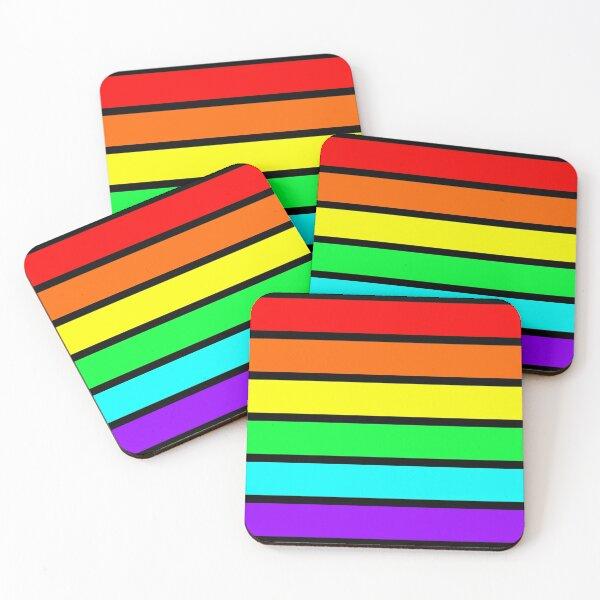 Neon Rainbow Coasters (Set of 4)