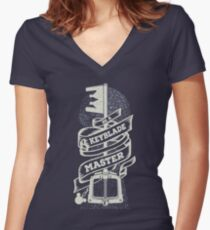 Be a Keyblade Master Women's Fitted V-Neck T-Shirt