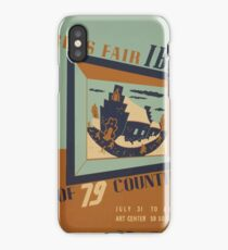 WPA United States Government Work Project Administration Poster 0745 World's Fair IBM Show iPhone Case