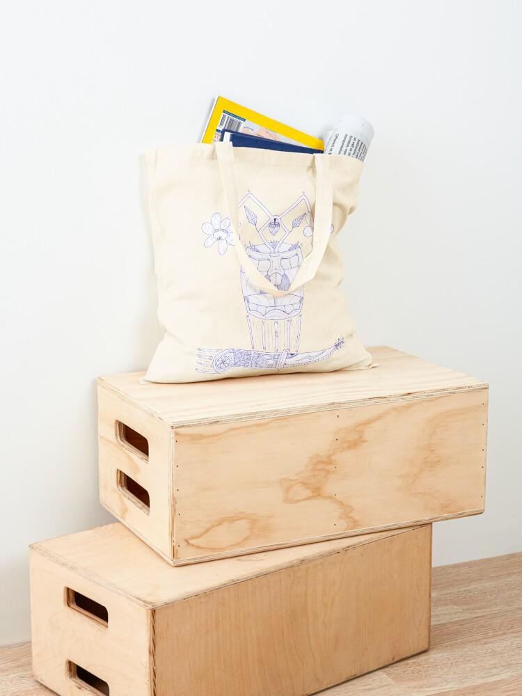 Alternate view of M.I. #18  ☼  E-vase-ive Action Tote Bag