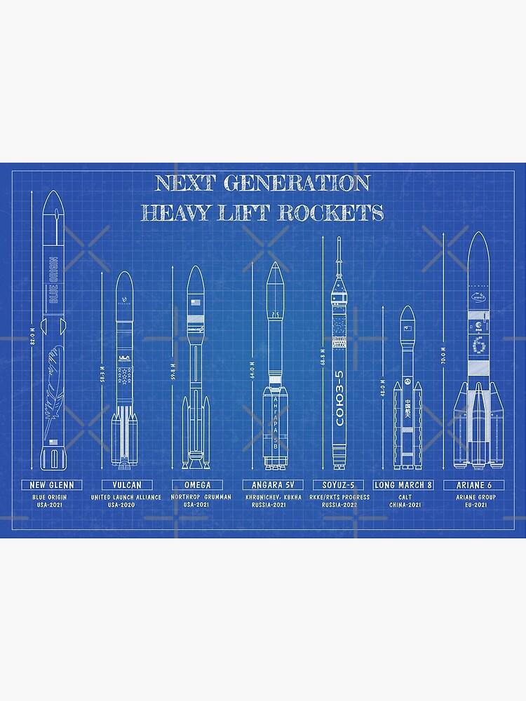Next Generation Heavy Lift Rockets (Blueprint) by BGALAXY