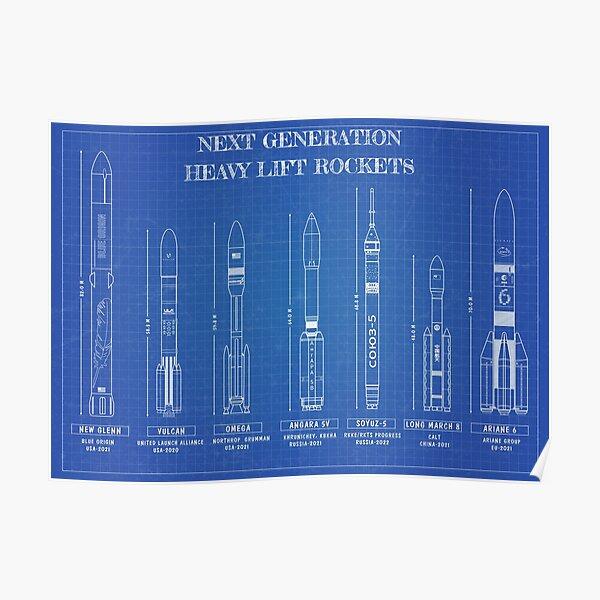 Next Generation Heavy Lift Rockets (Blueprint) Poster