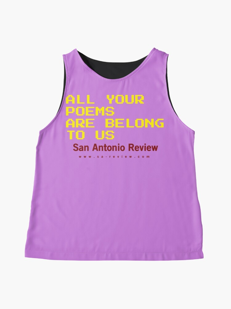 Alternate view of All Your Poems Are Belong to Us - San Antonio Review Sleeveless Top