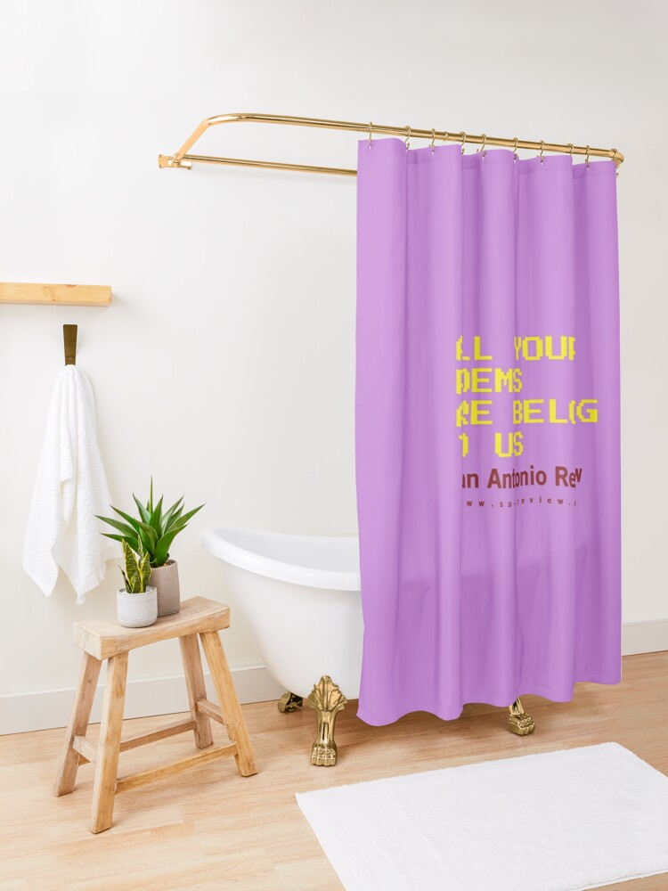 Alternate view of All Your Poems Are Belong to Us - San Antonio Review Shower Curtain