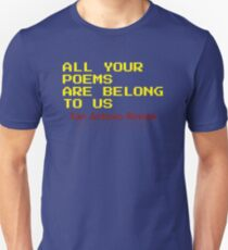 All Your Poems Are Belong to Us - San Antonio Review Slim Fit T-Shirt