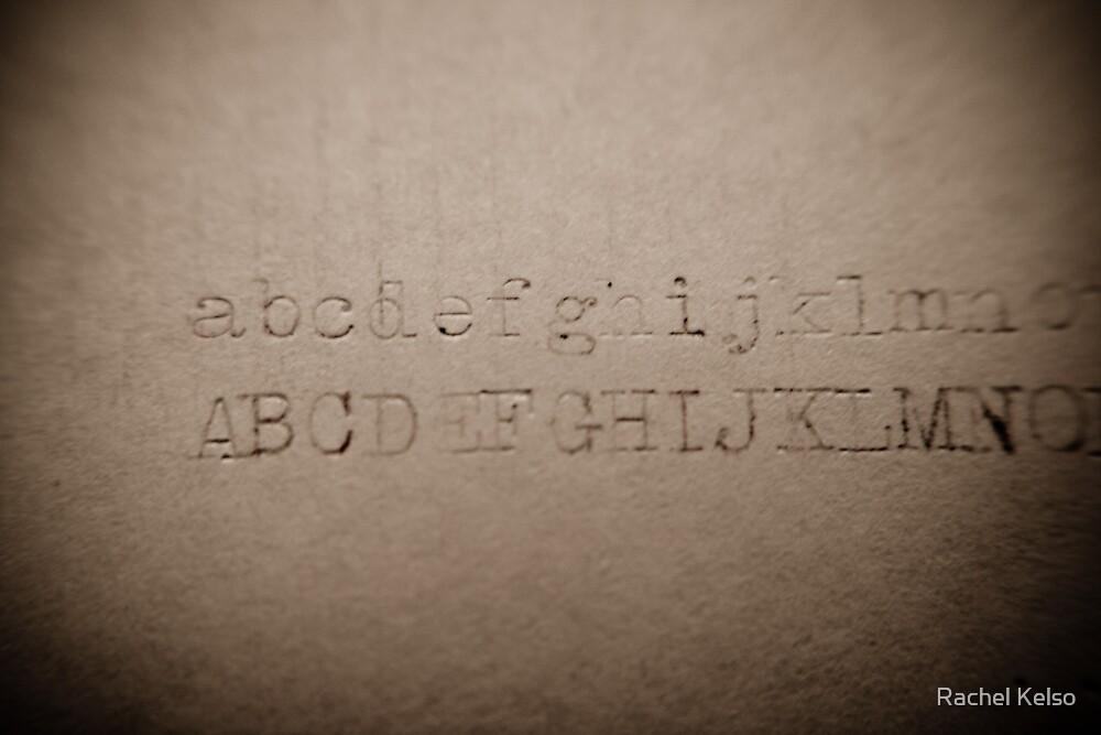 alphabet - rusty letters by Rachel Kelso